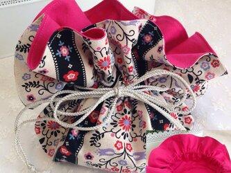 No.17 matryoshka flowery bagの画像