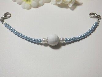 女性羽織紐◆ジェリーで可愛い水色ブルーの画像