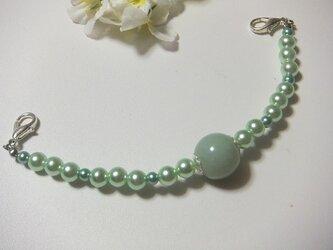 羽織紐◆アクセサリー感覚なグリーンカラーの画像