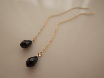 swarovski chain earringsの画像