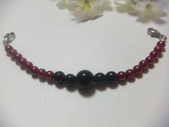 羽織紐◆妖艶な赤と黒の画像