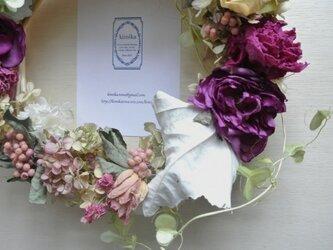 薔薇のロマンティックリース.2の画像