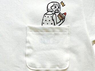 隠れショートケーキ ポケット付Tシャツの画像