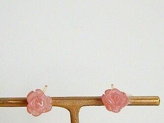 インカローズの薔薇ピアスの画像