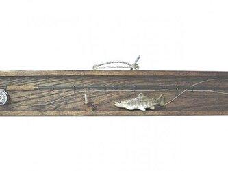 ミニチュア フライロッド&山女魚の画像
