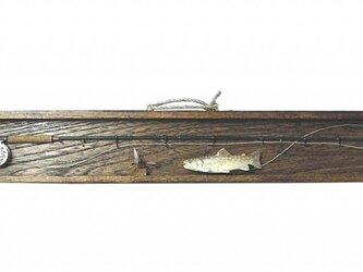 ミニチュア フライロッド&岩魚の画像