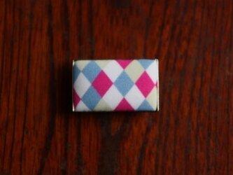 Yuianくるみ帯留め - 長方形・モダン菱つなぎ-01の画像