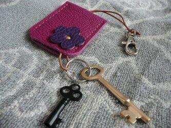 """【新作】""""トリヨン・トスカ""""手縫いキーホルダーの画像"""
