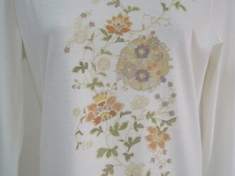 草花に丸紋 長袖Tシャツ(LLサイズ)の画像