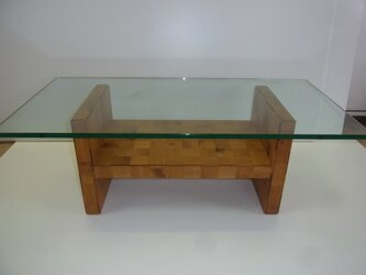 GLASS TOP LOW TABLEの画像