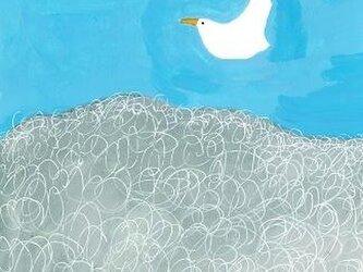 秋空と鳥の画像