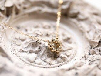 ダイヤと18Kのサークルネックレス(イエローゴールド or ピンクゴールド)の画像
