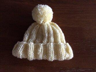 【キッズベビー】ぼポンポン帽子の画像