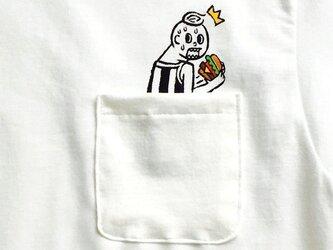 隠れハンバーガー ポケット付Tシャツの画像