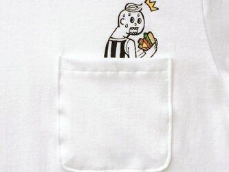 隠れハンバーガー ポケット付 Tシャツの画像
