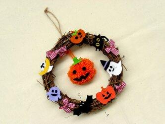 ハロウィンリース かぼちゃの画像