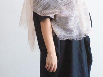 シルク 桜染めストールの画像