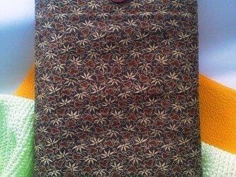 帯地で作った小物袋(紫竹 ピンク)の画像