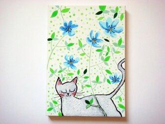 「今日のネコさん~今日はお散歩~」ミニパネルの画像