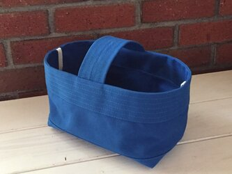 帆布バッグ[よこなが]青の画像