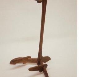 銘木 木製ギタースタンドの画像