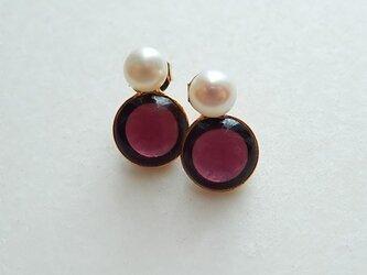 2way pearl + glass - grape purpleの画像
