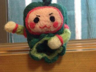 解決!「ピーマンマン☆」 羊毛フェルトの画像