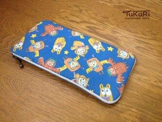 蝶ネクタイふくろうの長財布の画像