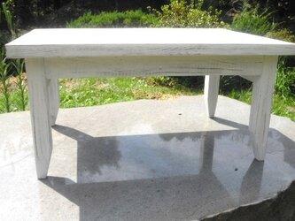 2枚接ぎ スプルース板ローテーブル730の画像