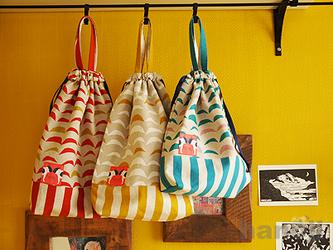 お着替えバッグ:サーカスのテントの画像