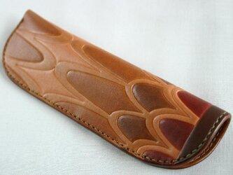 手染め手縫い革のペン挿し 翼の画像