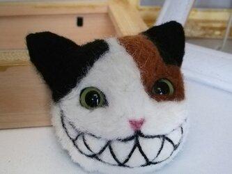 羊毛ブローチ♪化け猫の画像