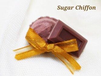 【送料無料】チョコレートとショコラアイスのブローチ♡の画像