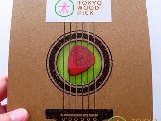 TOKYO WOOD PICK TearDrop Redの画像
