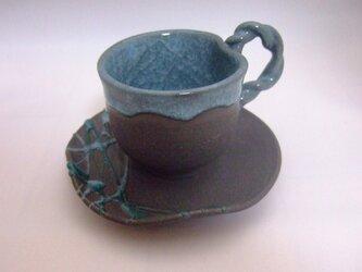 氷裂貫入釉 カップ&ソーサの画像