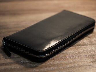 ファスナー長財布(ブラック)の画像