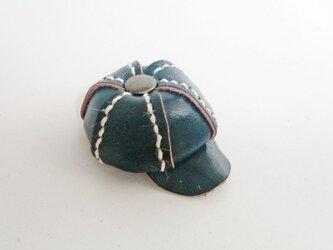 手縫いのミニチュアキャスケット(ブラック)の画像