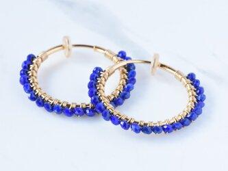 [EC] Lapis lazuli《L》Basic Hoop Ear Clipsの画像