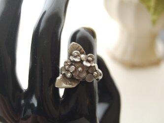 紫陽花の指輪[SILVER950]の画像