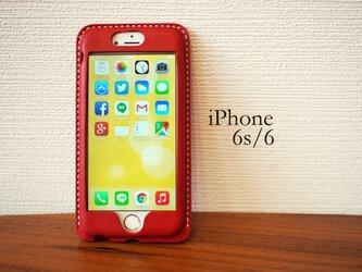 【名入れ・選べる革とステッチ】iPhone6s/6 カバー ケースの画像