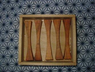 ヤマザクラの箸置きの画像