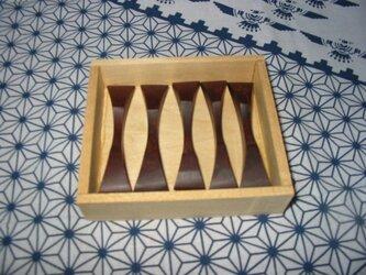 ローズウッドの箸置きの画像