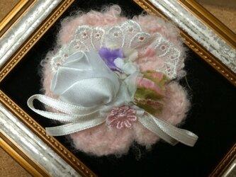 ヘアピンブローチ(ふんわりピンクのお花とバラ)〜プレリライン〜の画像