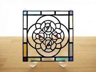 ステンドグラス ミニパネル ブーケ クリア 15cmの画像