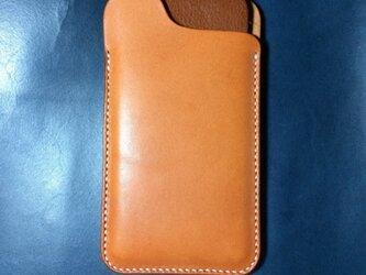 栃木レザーのiPhoneX,8プラス/6プラス スリーブケース。の画像