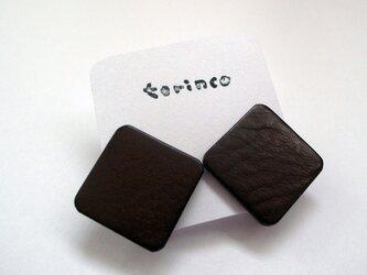 イヤリング - square -(チョコ)の画像