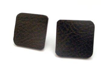 ピアス - square -(チョコ)の画像