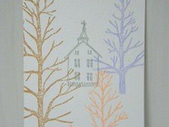 葉書〈木々の向こう 教会-1〉の画像