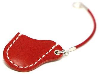 スコッティキャメロン グリーンフォーク 専用栃木レザーケース 赤革 X 白糸の画像