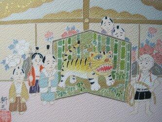 一休さん 手描き京友禅染め絵のみの画像